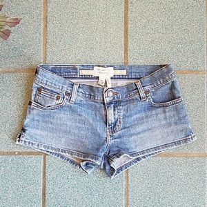 Abercrombie & Fitch Low Rise Denim Shorts Size 2